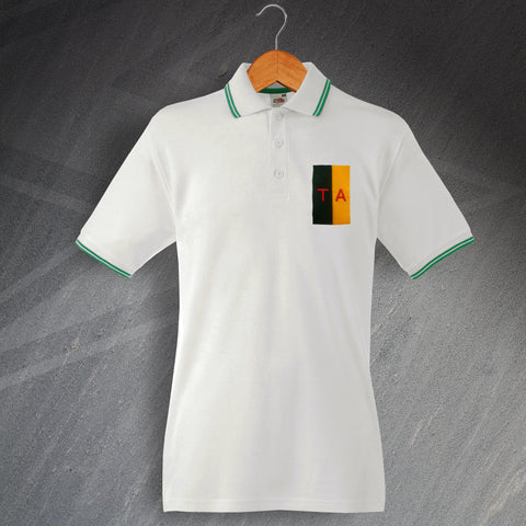 Territorial Army Polo Shirt Embroidered Tipped Colours & Lettering