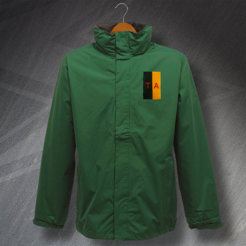 Territorial Army Jacket Embroidered Waterproof Colours & Lettering
