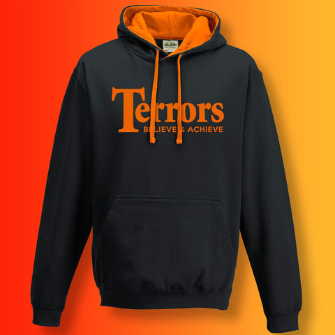 Terrors Contrast Hoodie with Believe & Achieve Design