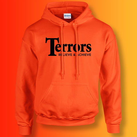 Terrors Hoodie with Believe & Achieve Design Orange