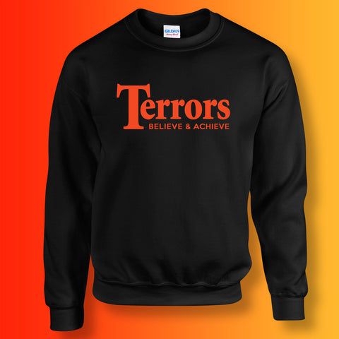 Terrors Sweater with Believe & Achieve Design Black