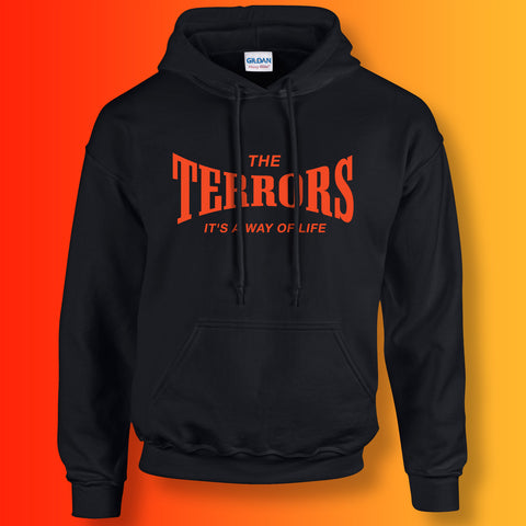 Terrors Hoodie with It's a Way of Life Design Black