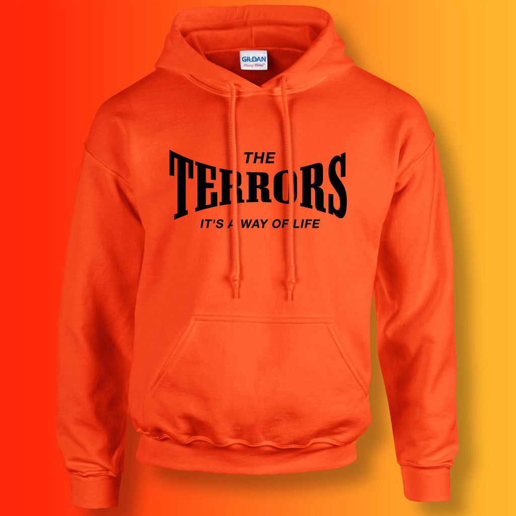 Terrors Hoodie with It's a Way of Life Design Orange
