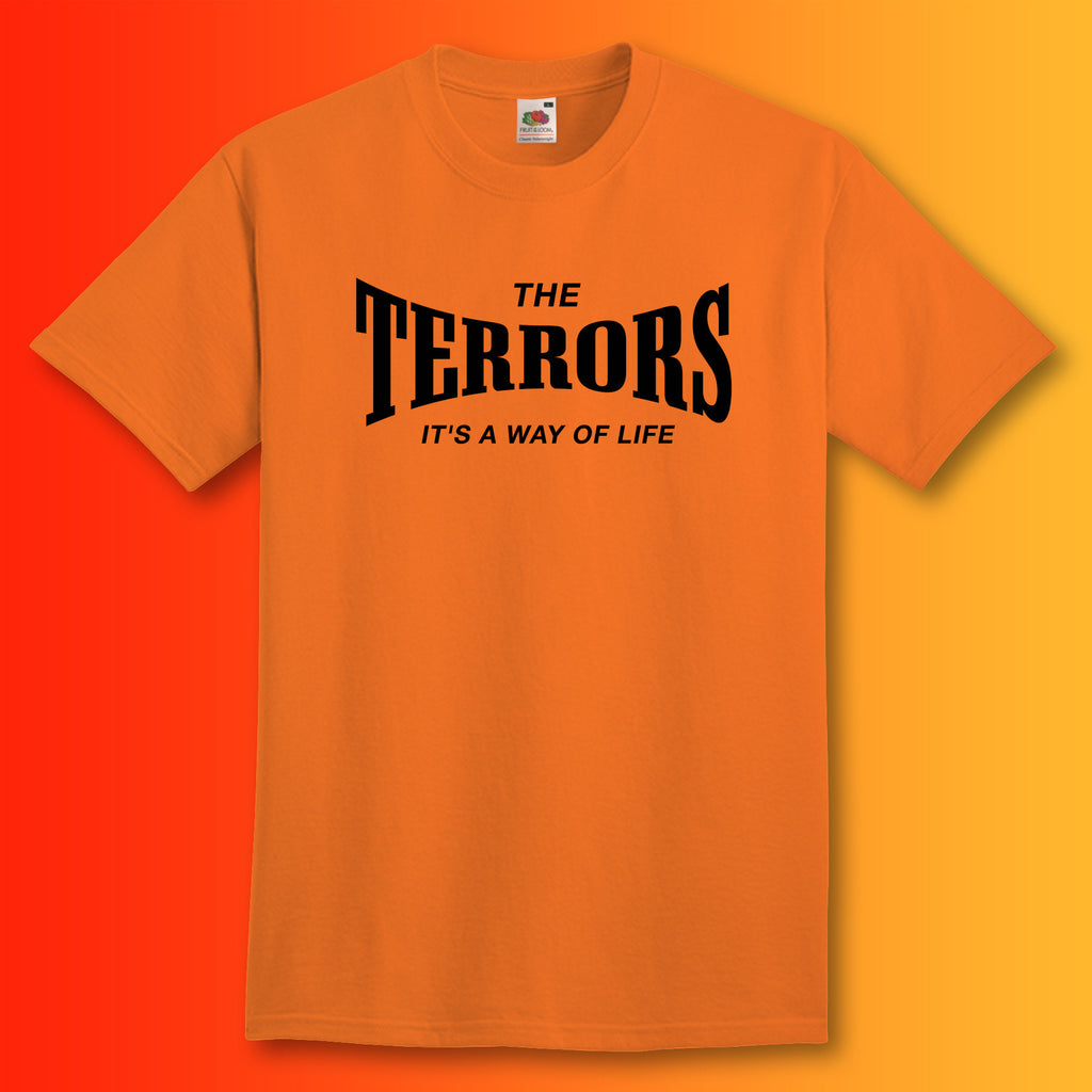 Terrors Shirt with It's a Way of Life Design Orange