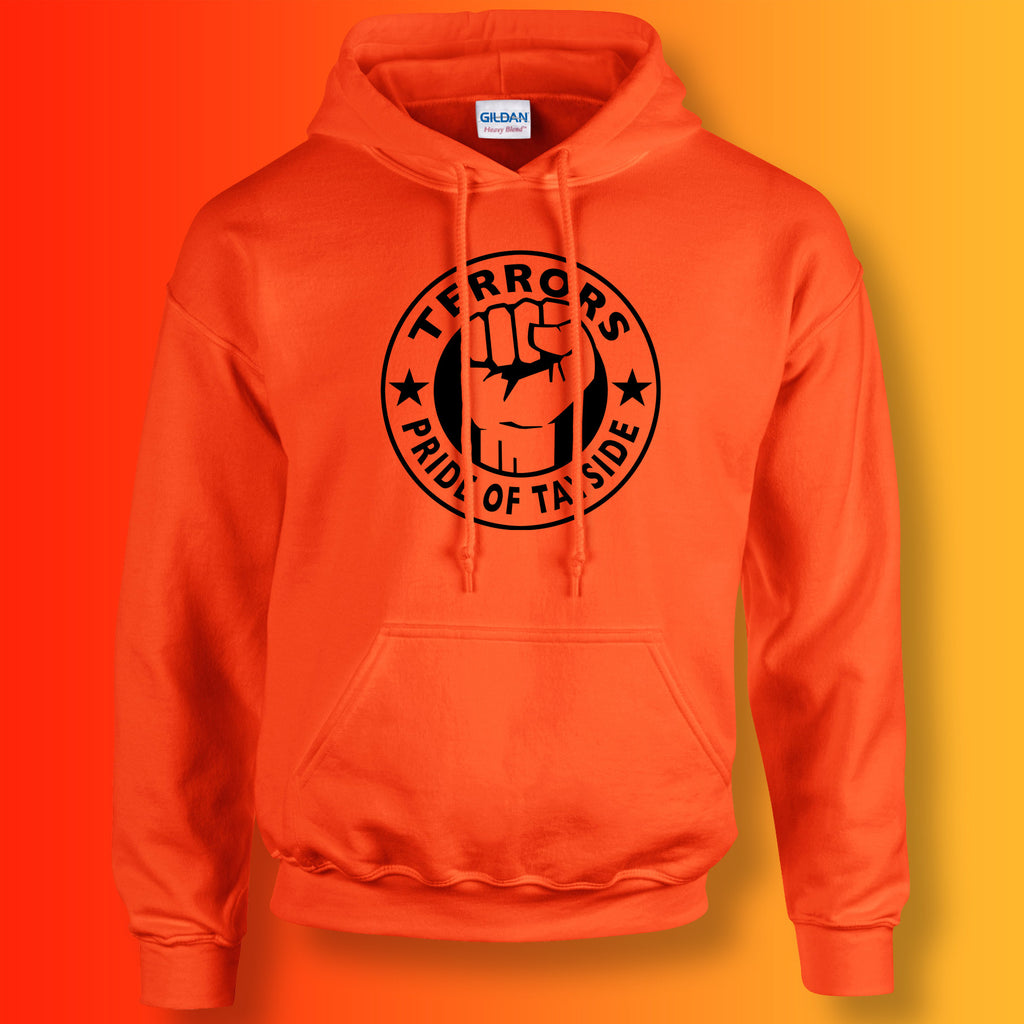 Terrors Hoodie with The Pride of Tayside Design Orange