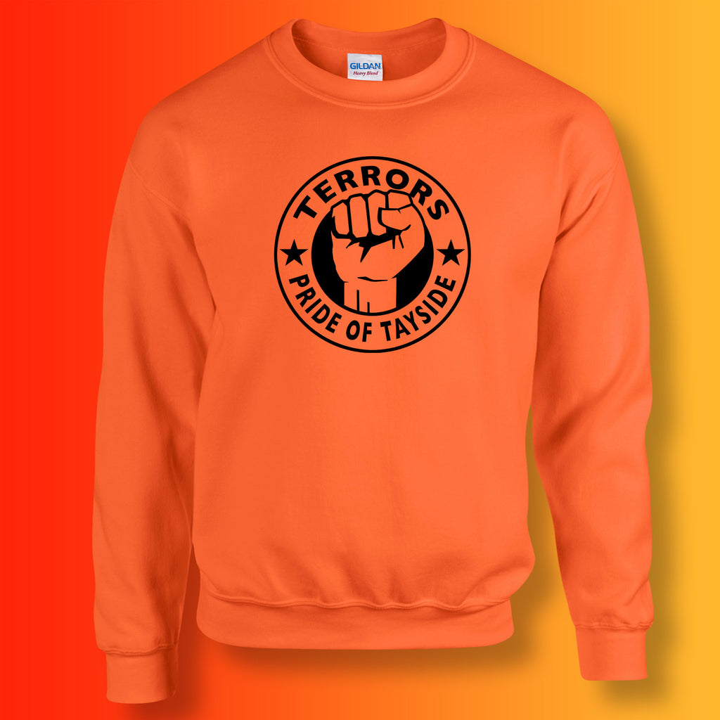 Terrors Sweater with The Pride of Tayside Design Orange