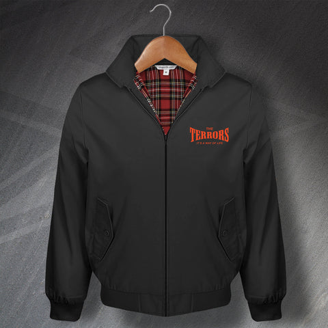 The Terrors Classic Harrington Jacket with Embroidered It's a Way of Life Design