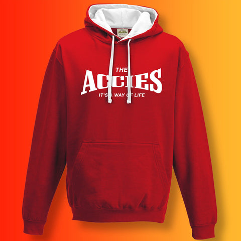 The Accies Contrast Hoodie with It's a Way of Life Design