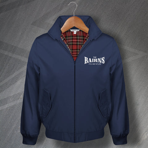 Falkirk Football Harrington Jacket Embroidered The Bairns It's a Way of Life