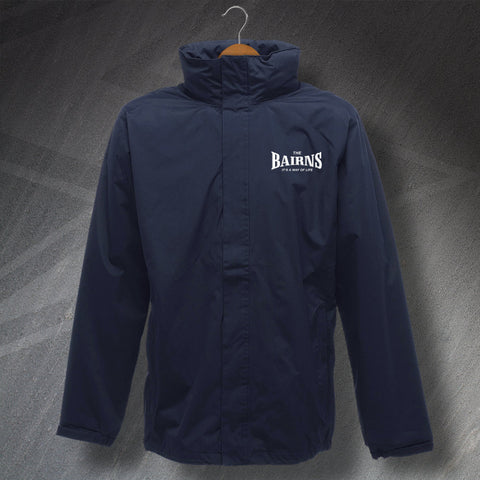 Falkirk Football Jacket Embroidered Waterproof The Bairns It's a Way of Life