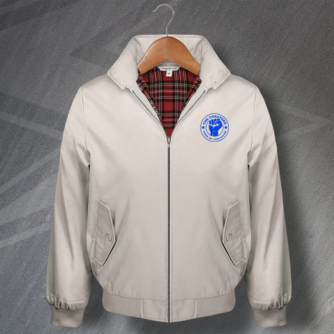 AFC Fylde Football Harrington Jacket Embroidered The Coasters Pride of Lancashire