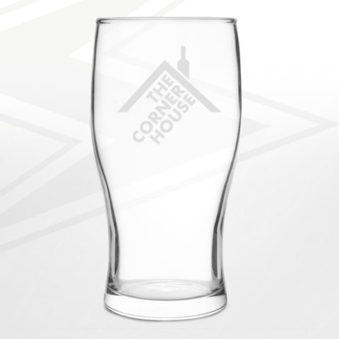 The Corner House Pub Pint Glass Engraved