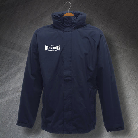 The Dark Blues It's a Way of Life Embroidered Waterproof Jacket