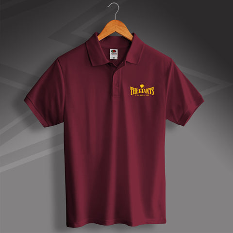 The Giants Rugby Polo Shirt Embroidered It's a Way of Life