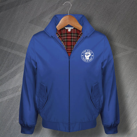 Gillingham Football Harrington Jacket Embroidered The Gills Pride of Kent