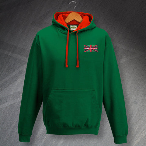 Glentoran Football Hoodie Embroidered Contrast Glens Union Jack