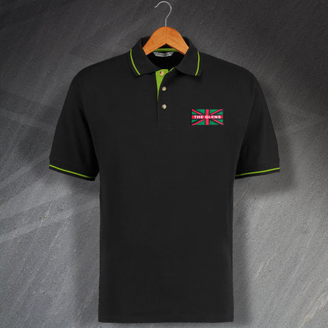 Glentoran Football Polo Shirt Embroidered Contrast Glens Union Jack