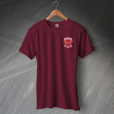 Retro The Iron T-Shirt with Embroidered Badge