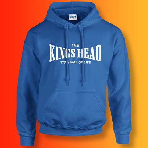 Kings Head Hoodie with It's a Way of Life Design Royal