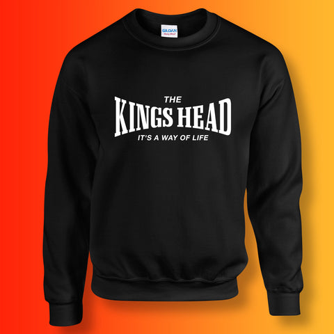 Kings Head Sweater with It's a Way of Life Design Black
