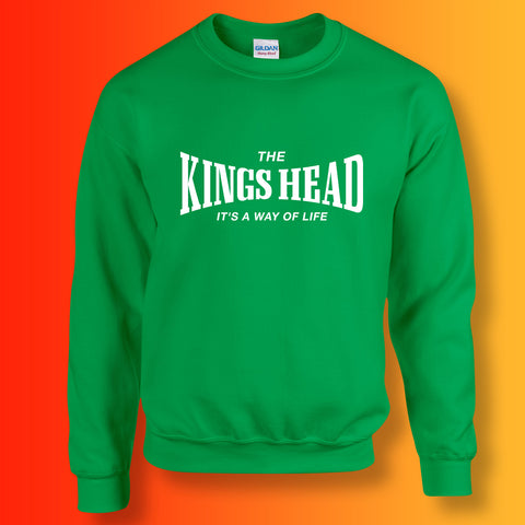 Kings Head Sweater with It's a Way of Life Design Kelly