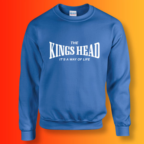 Kings Head Sweater with It's a Way of Life Design Royal