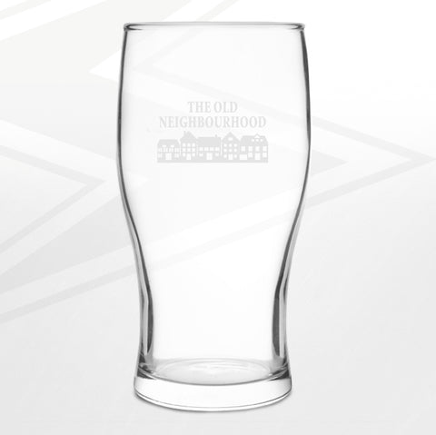 The Old Neighbourhood Pub Pint Glass Engraved