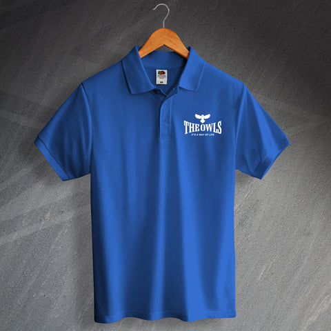 Sheffield Wednesday Football Polo Shirt Embroidered The Owls It's a Way of Life