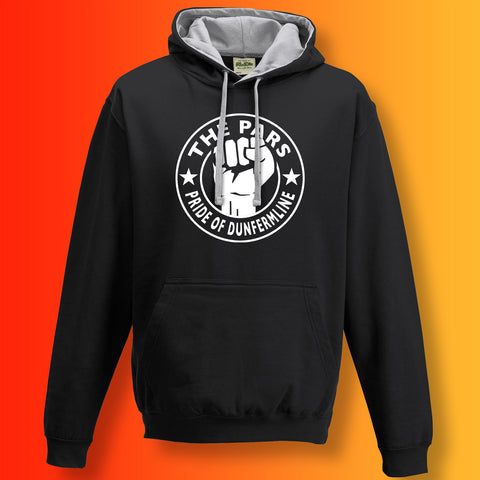 Pars Contrast Hoodie with The Pride of Dunfermline Design