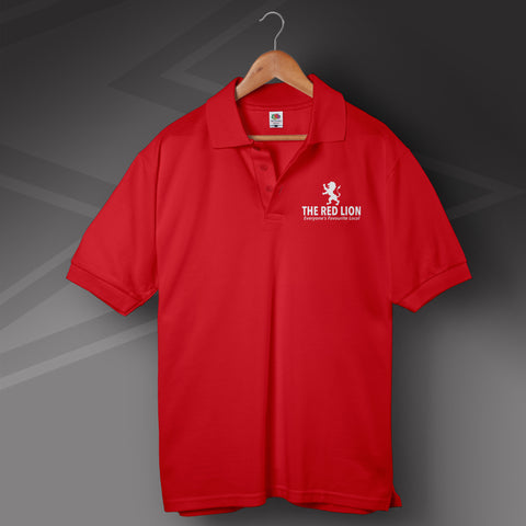 The Red Lion Pub Polo Shirt Personalised Everyone's Favourite Local