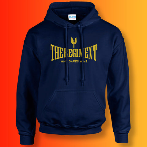 The Regiment Hoodie with Who Dares Wins Design