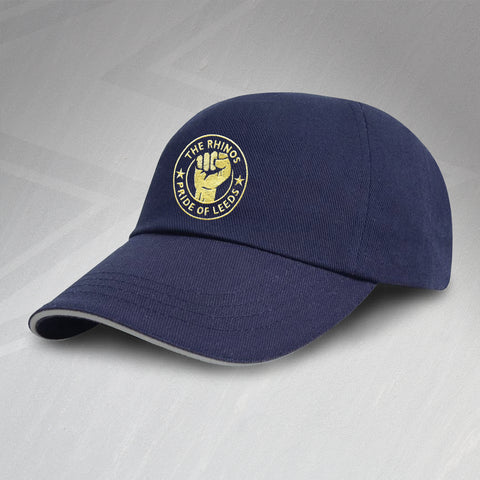 The Rhinos Rugby Baseball Cap Embroidered Pride of Leeds