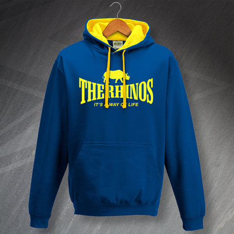 The Rhinos Rugby Hoodie Contrast It's a Way of Life