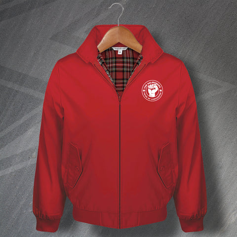 Darwen Football Harrington Jacket Embroidered The Salmoners Pride of Lancashire