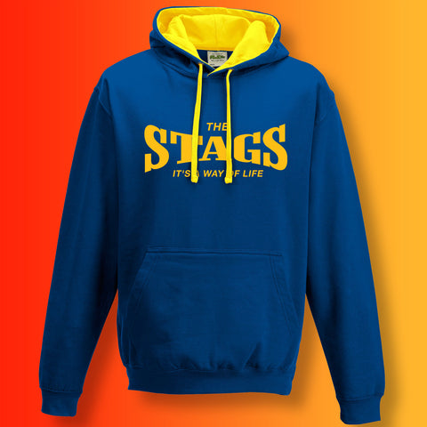 Stags Contrast Hoodie with It's a Way of Life Design