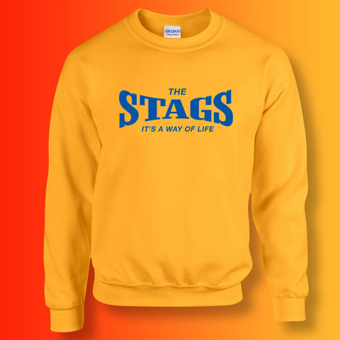 Stags Sweater with It's a Way of Life Design