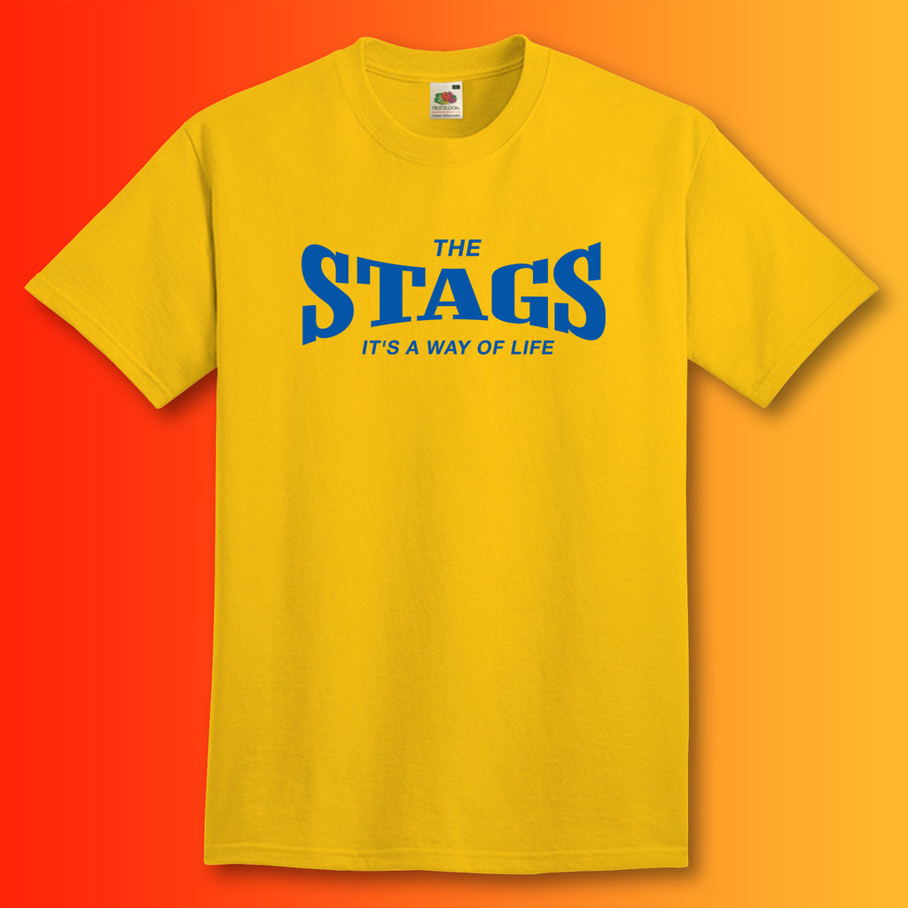 Stags Shirt with It's a Way of Life Design Sunflower