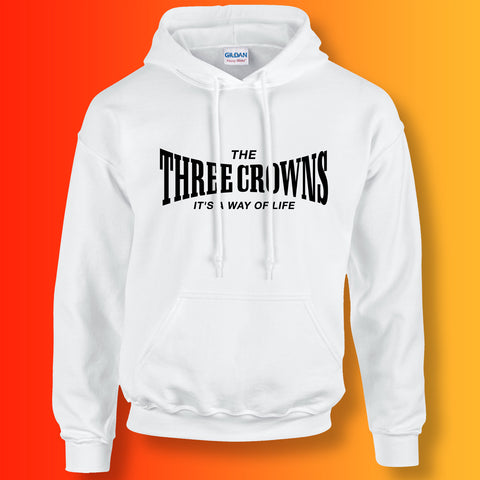 The Three Crowns Unisex Hoodie with It's a Way of Life Design