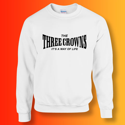 The Three Crowns Unisex Sweater with It's a Way of Life Design