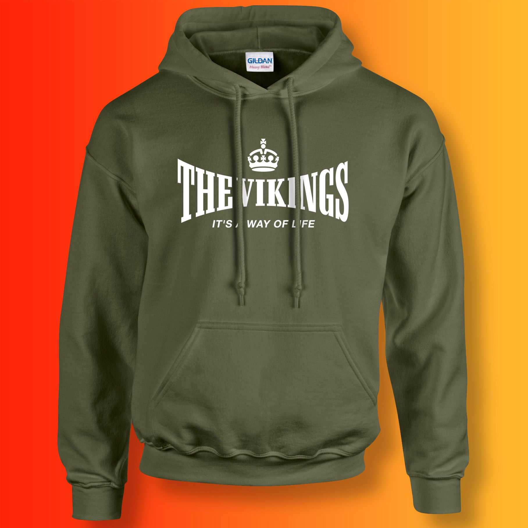 timeless design efd91 05132 The Vikings Hoodie with It's a Way of Life Design ...
