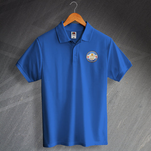 Retro The Wednesday Polo Shirt with Embroidered Badge
