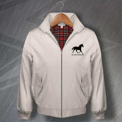 The White Horse Pub Harrington Jacket Embroidered Silhouette