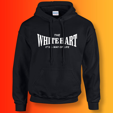 The White Hart Unisex Hoodie with It's a Way of Life Design