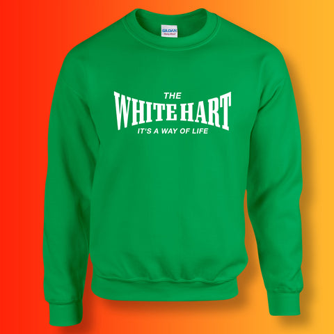 White Hart Sweater with It's a Way of Life Design Kelly