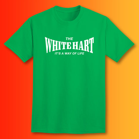 The White Hart T-Shirt with It's a Way of Life Design Kelly