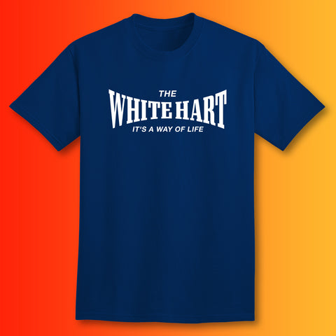 The White Hart T-Shirt with It's a Way of Life Design Navy