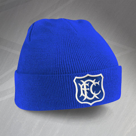 Retro Toffees Beanie Hat with Embroidered Badge