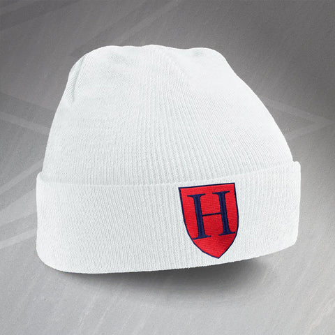 Tottenham Football Beanie Hat Embroidered Contrast 1883