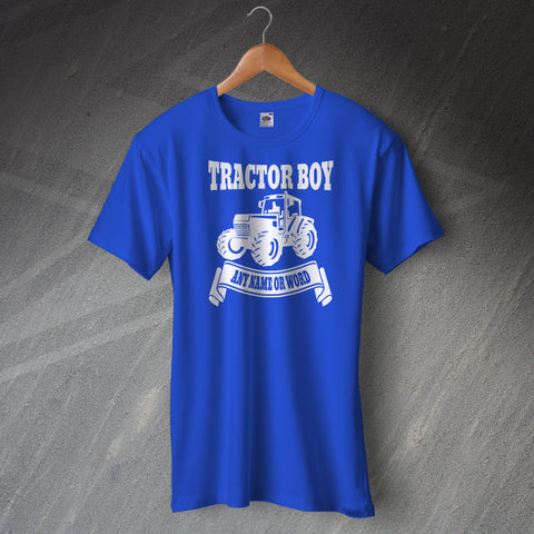 Ipswich Football T-Shirt Personalised Tractor Boy