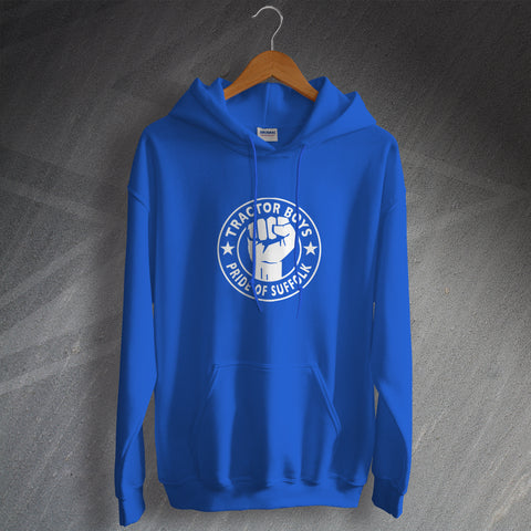 Ipswich Football Hoodie Tractor Boys Pride of Suffolk